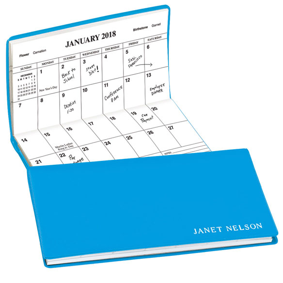 Robin's Egg Blue Personalized 2 Year Pocket Planner