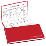 Calendars - Red Personalized 2 Year Pocket Planner