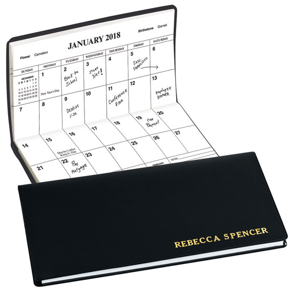 Black Personalized 2 Year Planner