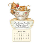 Flash Sale - Friendship Mice Mini Magnetic Calendar