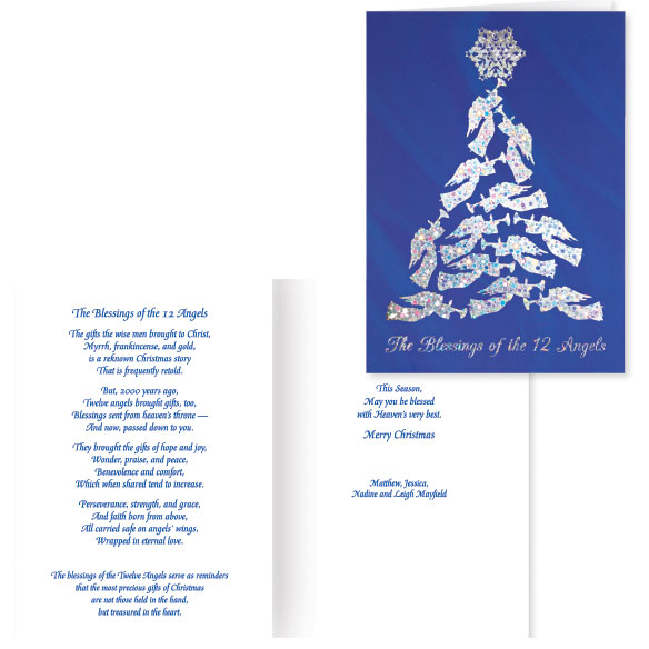 Blessing of the 12 Angels Christmas Card Set of 20 - View 1