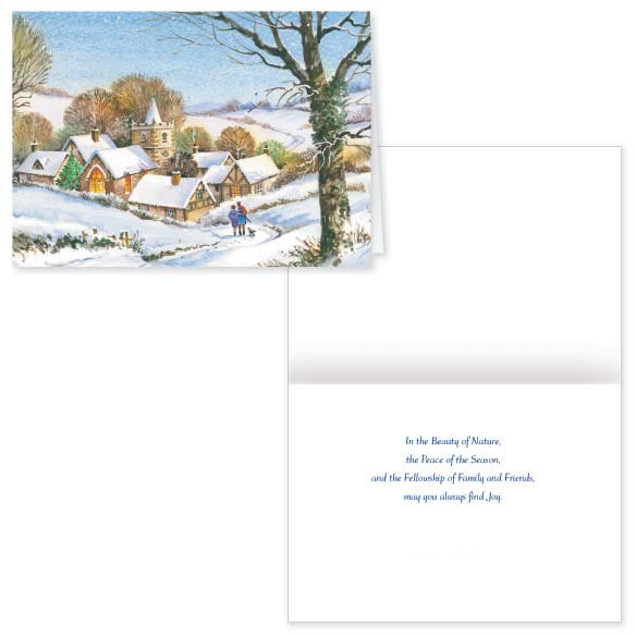 Peaceful Village Christmas Card - Set of 20 - View 1