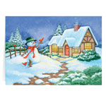Holidays & Gifts Sale - Snowman Cottage Christmas Card - Set of 20