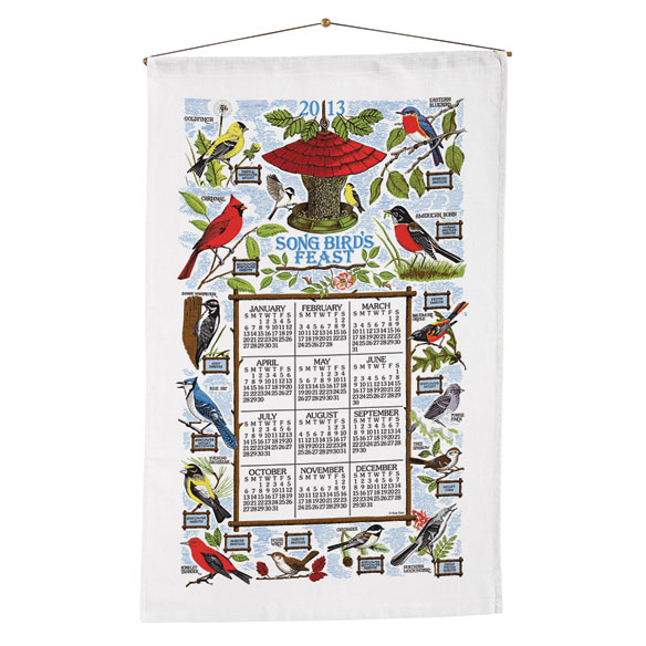 Songbirds Calendar Towel