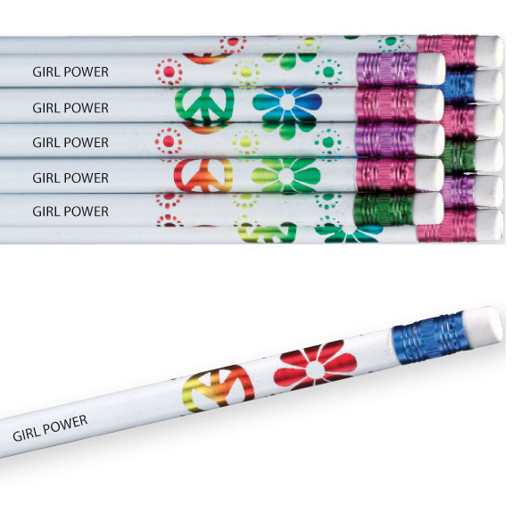 Personalized Flower Pencils - Set Of 12
