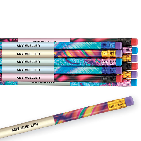 Psychedelic Assortment Pencils Set of 12
