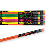 Personalized Gifts - Personalized Neon Pencils - Set Of 12