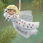 Decorations & Storage - Personalized Birthstone Angel Ornament