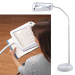 Gifts for the Reader - Lighted Full Page Magnifier Lamp