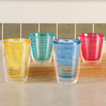 Summer BBQ - Insulated Tumblers Set Of 4