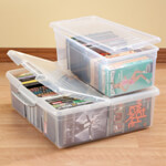 Small Space Solutions - Stacking Media Storage Boxes