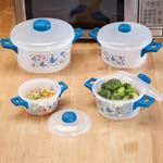 Small Appliances & Accessories - 8 Pc. Butterfly Microwave Pot Set