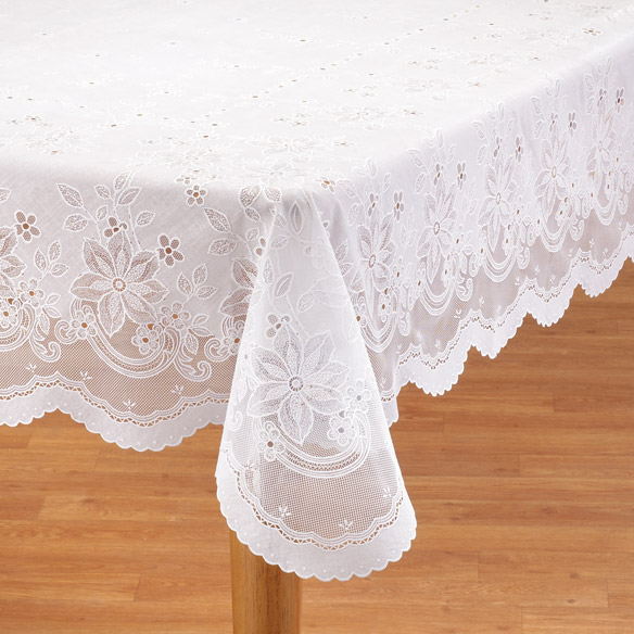 vinyl lace tablecloth view 1 - Kitchen Table Covers Vinyl