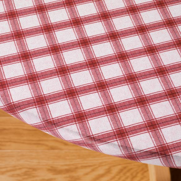 Plaid Elasticized Vinyl Table Cover