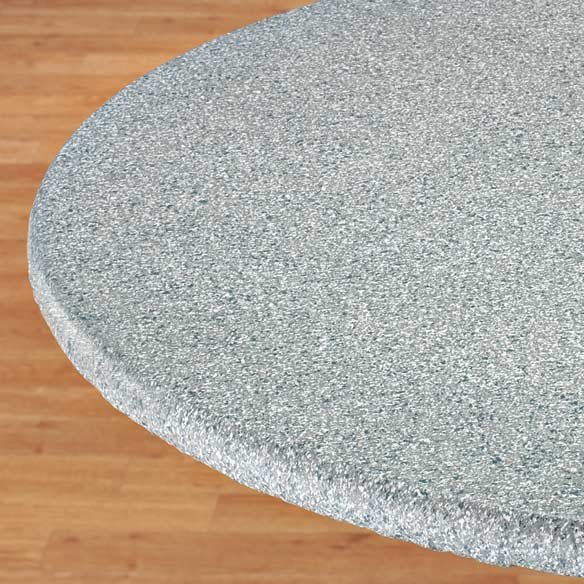 Polished Granite Vinyl Fitted Table Cover - View 1