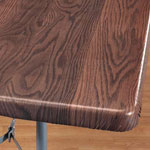 Table Top & Entertaining - Wood Grain Elasticized Table Cover