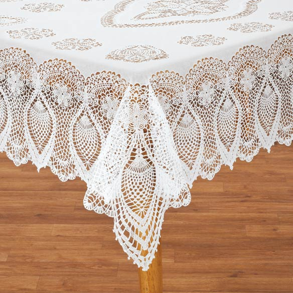 Vinyl Lace Tablecloth   View 1 ...