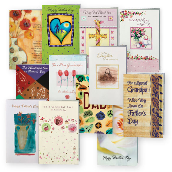 Mother's and Father's Day Cards Value Pack of 12