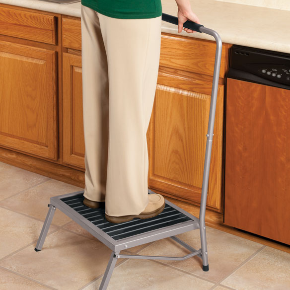 Extra Wide Folding Step Stool With Handle