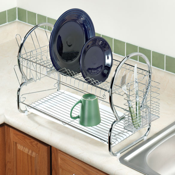 Two-Tier Compact Dish Rack