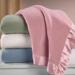 Comfy & Cozy - Satin Fleece Blanket by OakRidge™ Comforts