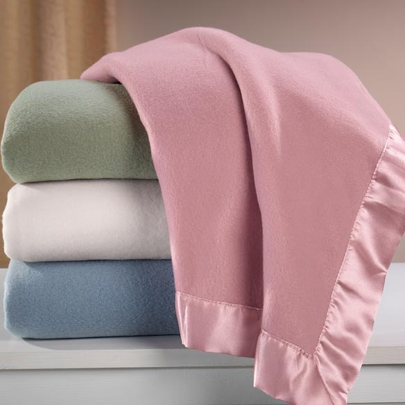 Satin Fleece Blanket by OakRidge™ Comforts