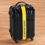 Safe Holiday Travel - Personalized Yellow Luggage Strap