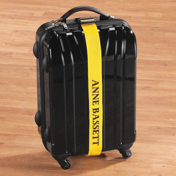 Personalized Yellow Luggage Strap - Luggage Strap - Walter Drake