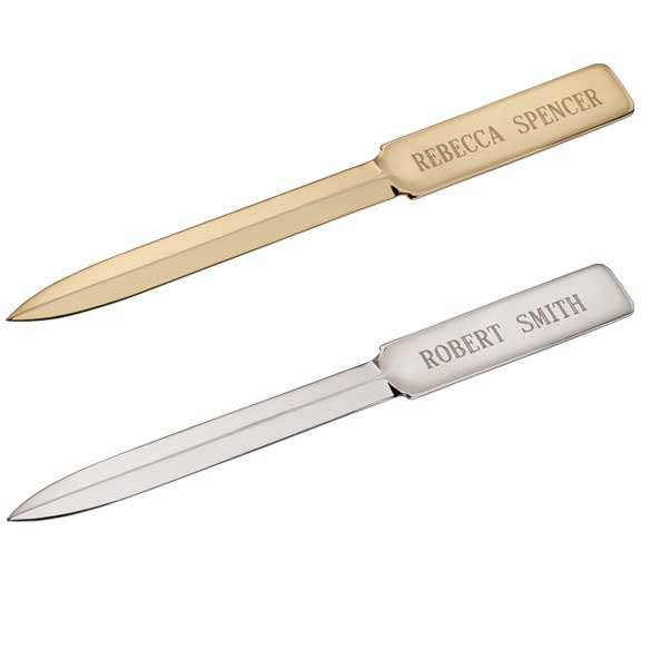 personalized plate letter opener - home office - calendars