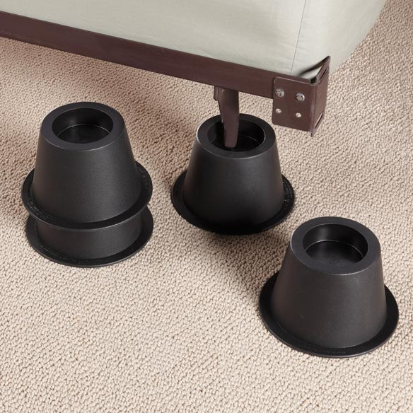 Black Bed Risers - Set of 4 - View 1