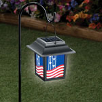 Decorations & Storage - Patriotic Solar Lantern Stake
