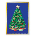 Christmas Cards - Satin Tree Christmas Card Set of 20