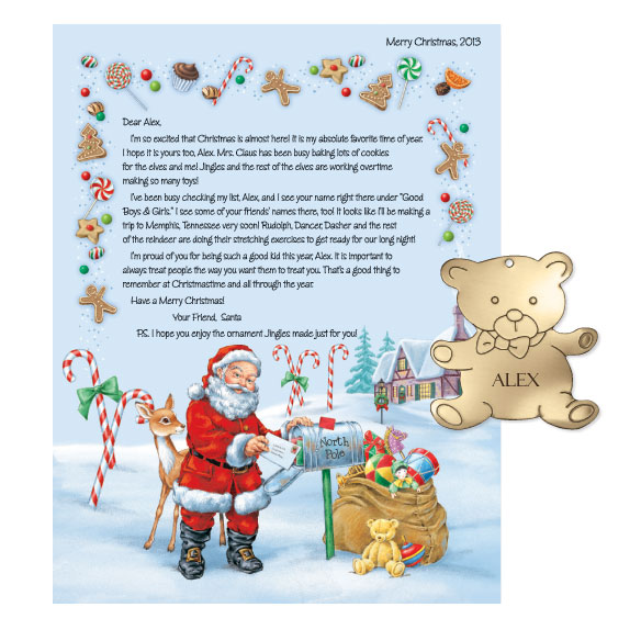 Personalized Christmas Letter From Santa 2013