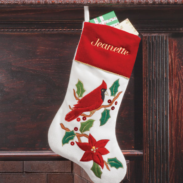 Personalized Cardinal Stocking - View 1