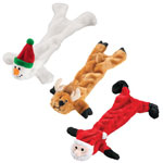 Flash Sale - Stuffing Free Christmas Dog Toys, Set of 3