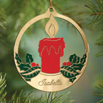 Ornaments - Personalized Candle Ornament