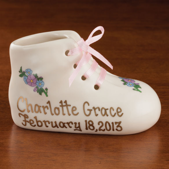 Personalized Deluxe Baby Bootie - View 1