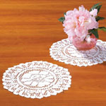 "Home - Lace Doily 10"" Round Set of 3"