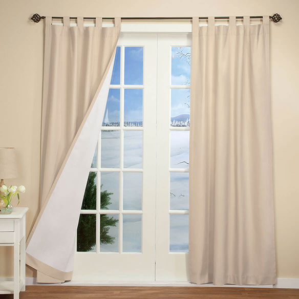 Energy Saving Tab Top Curtain Panels - Set of 2