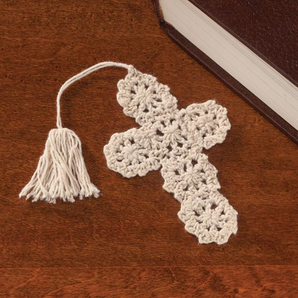 Crocheted Cross Bookmarks - Set of 10