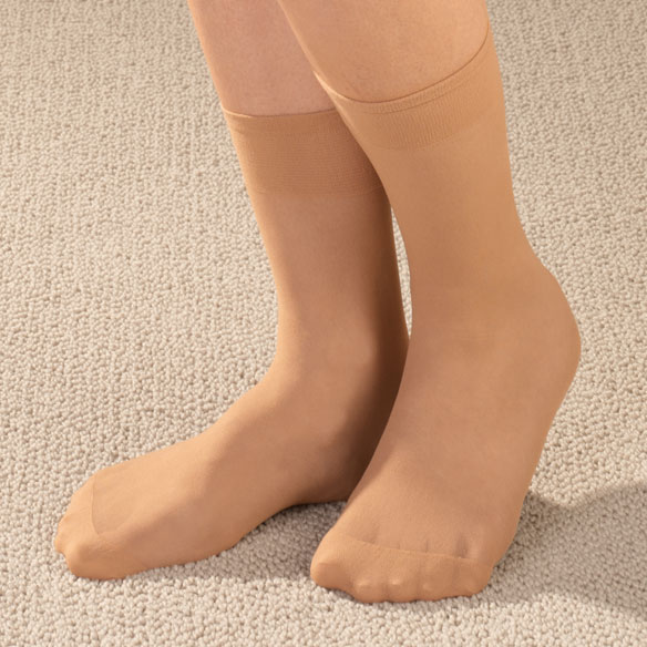 Diabetic Nylon Ankle Hose 5 Pair