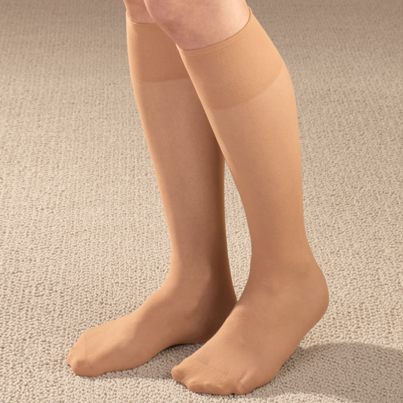 Diabetic Sheer Knee Highs 5 Pair
