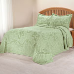 White Sale - The Caroline Chenille Bedding by East Wing Comforts™