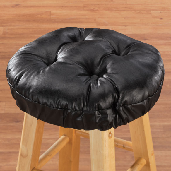 Faux Leather Bar Stool Cushion - View 1