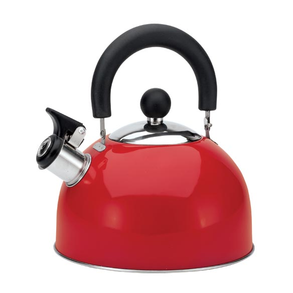 Red Whistling Tea Kettle - 2 Qt.