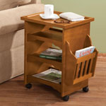 Small Space Solutions - Deluxe Rolling Multipurpose Table by OakRidge™ Accents