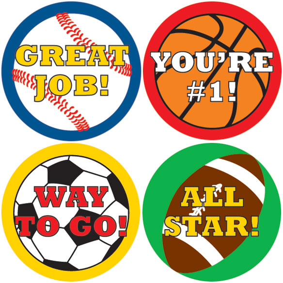 Sports Stickers - Set Of 144