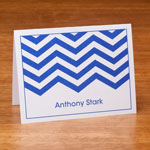 Memos, Notepads & Cards - Personalized Note Cards With Chevron Design