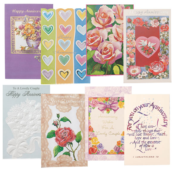 Anniversary Cards Assortment - Pack Of 24
