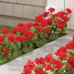 Lawn & Garden - Artificial Red Geraniums